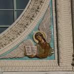 Кронштадт. Морской Никольский собор. Майолика на фасаде Южного портала.