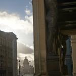 В Немецкой слободе на Миллионной. У Дворцовой площади.