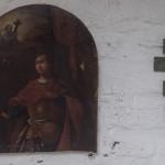 Ивангородская крепость. Около Успенского собора. У надгробной плиты Ульяны Федоровны Сухатиной.