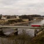 Пограничный мост через Нарву. Вид со стен Ивангорода.