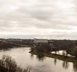 Река Нарва. Вид со стен Ивангородской крепости.