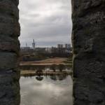 Ивангородская крепость. Вид на левый берег Нарвы.
