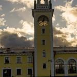 Часовая башня Волховского вокзала.