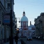 Улица Пестеля. Вид на Пантелеймоновскую церковь.