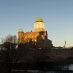 Выборгский замок и башня святого Олафа.