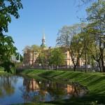 Михайловский замок. Вид из Михайловского сада.