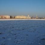 На набережной Невы в январе.