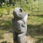 В Старооскольском дендропарке. Деревянный слон.