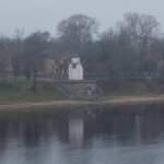 Псков. Вид на Ольгинскую часовню с Ольгинского моста.