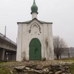 Псков. Анастасиевская часовня у Ольгинского моста.