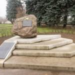 Псков. Камень Памяти первых жертв фашистской оккупации в 1941 году.