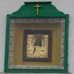 Изборская крепость. Икона над входом в Никольский собор.