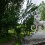 Веселый кентавр на мосту в Павловском парке.