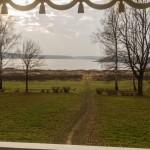 Пушкинские Горы: Петровское. Беседка-грот в парке. Вид на озеро Кучане.