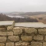 В Изборской крепости. Вид на озеро Городищенское с башни Луковка.