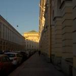 Улица Зодчего Росси и Александринский театр. Вид от площади Ломоносова.