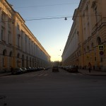 Улица Зодчего Росси. Вид от заднего фасада Александринского театра.