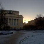 Екатерининский сквер на площади Островского перед Александринским театром.