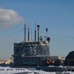 На набережной лейтенанта Шмидта. Музей подводная лодка С-189.