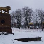 Кингисепп. Памятник на могиле Бистрома. Работа Петра Карловича Клодта.
