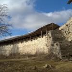 Порховская крепость. Лестница, ведущая к боевому ходу.