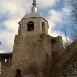 Порховская крепость. Никольская башня. Вид с крепостного двора.