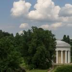 Павловск. Вид от Павловского дворца на павильон Дружбы.
