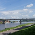 Новгород. Мост Александра Невского. Вид с одноименной набережной.
