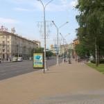 Проспект Независимости в Минске. Утро понедельника.