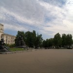 На площади Якуба Коласа в Минске.