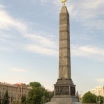 Минск. Монумент Победы на площади Победы.
