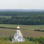 Холковский монастырь. Вид с холма на церковь Донской иконы Божией Матери.