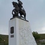 Холковский монастырь. Памятник Святославу Игоревичу.
