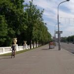 Минск. На проспекте Независимости у сквера имени Янки Купала.