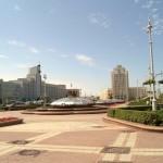 Площадь Независимости в Минске.  Центральный фонтан.