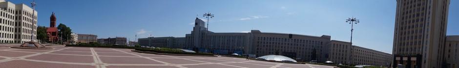 На площади Независимости в Минске.
