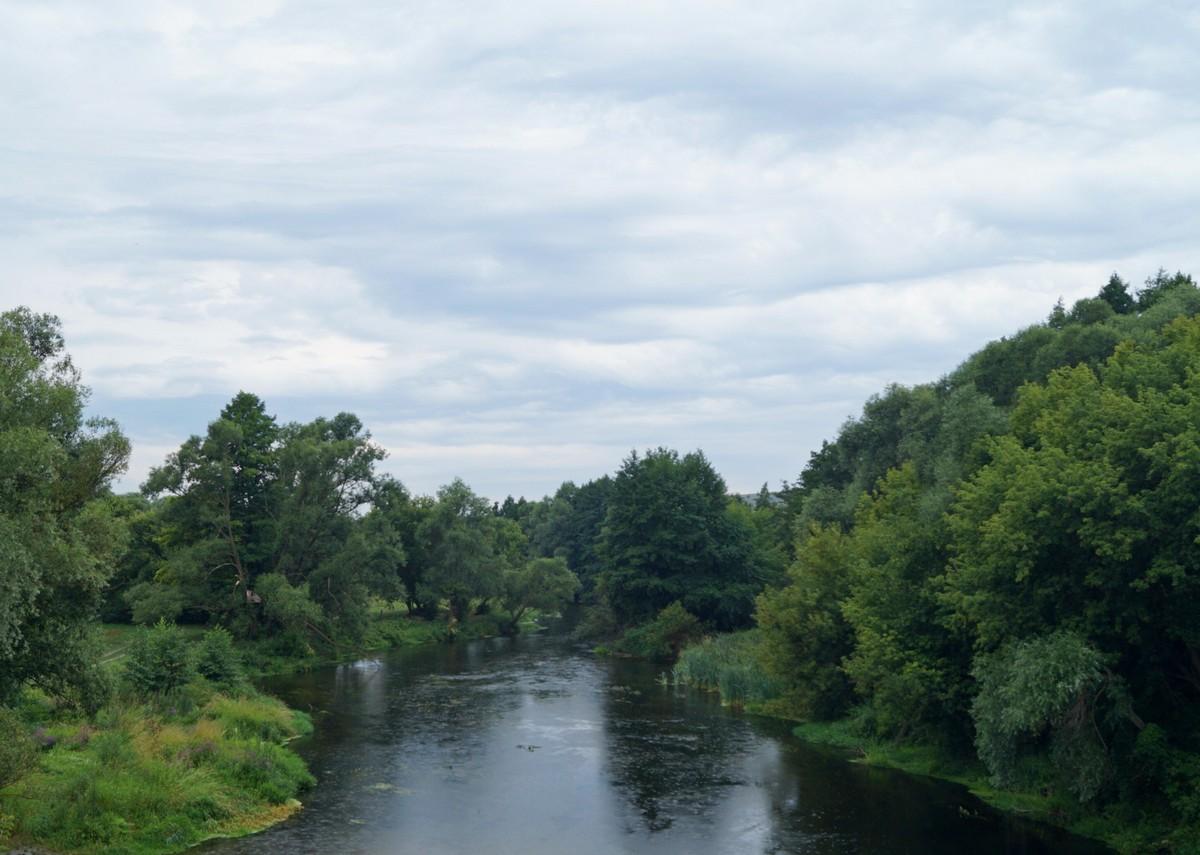 Река Оскол в Белгородской области. Вид с моста.