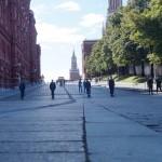 Москва. Небольшой заслон перед входом на Красную площадь.