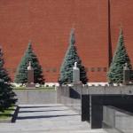 Москва. Товарищ Сталин у Кремлевской стены.