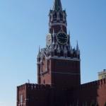 Москва. Спасская башня Московского кремля.