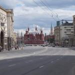Москва. Тверская улица. Вид на здание Исторического музея.