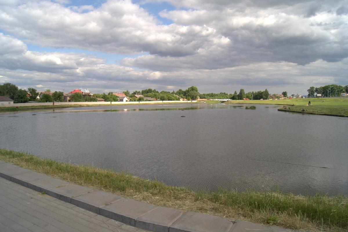 Лида. Река Лидейка (Лидея) у замка.