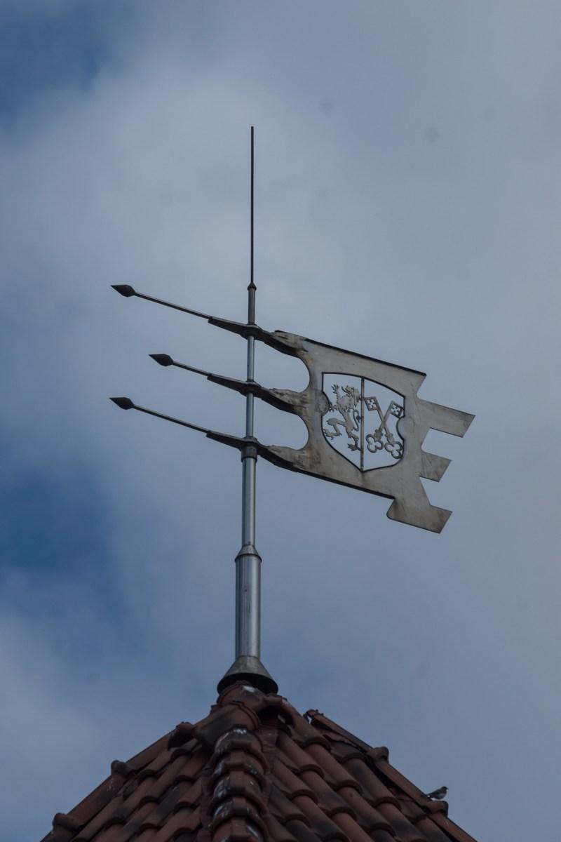 Лида. Герб города на юго-западной башне Лидского замка.