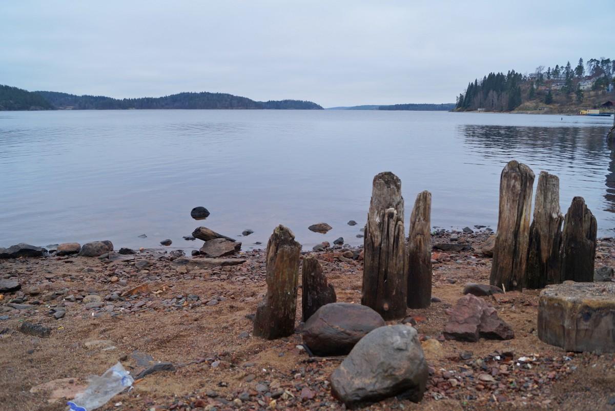 На берегу Якимварского залива Ладожского озера в Лахденпохья.
