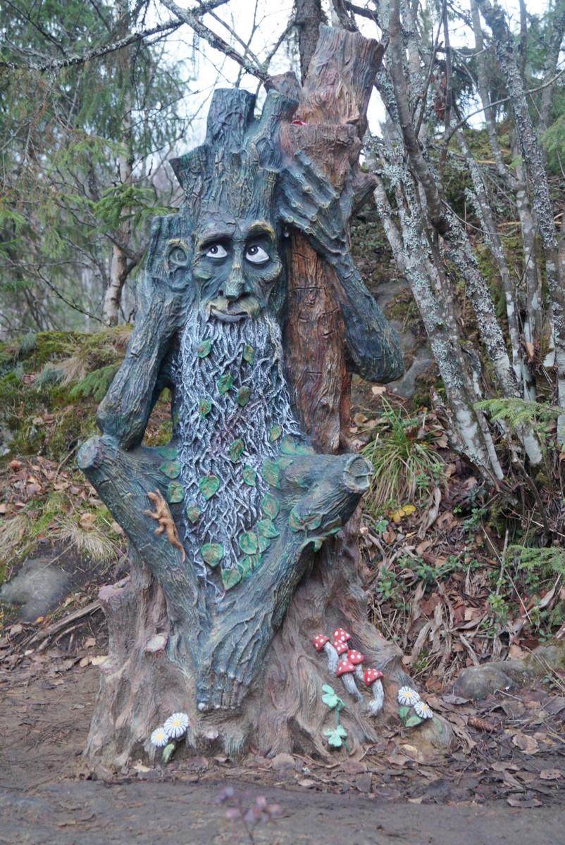 """Лесной парк """"Водопады Ахинкоски. Леший."""