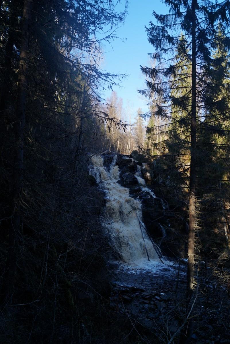 """Водопад """"Белые мосты"""". На полпути к берегу Кулисмайоки."""