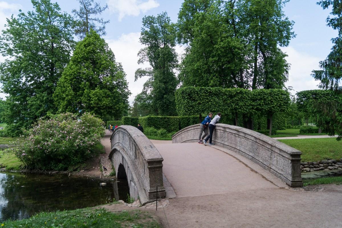 Пушкин. Екатерининский парк. Мост через Рыбный канал.