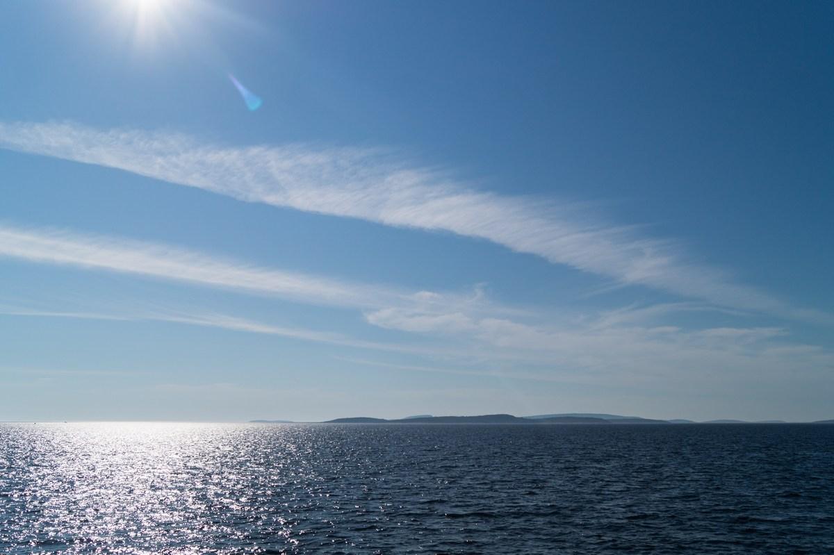 На Белом море в июле.