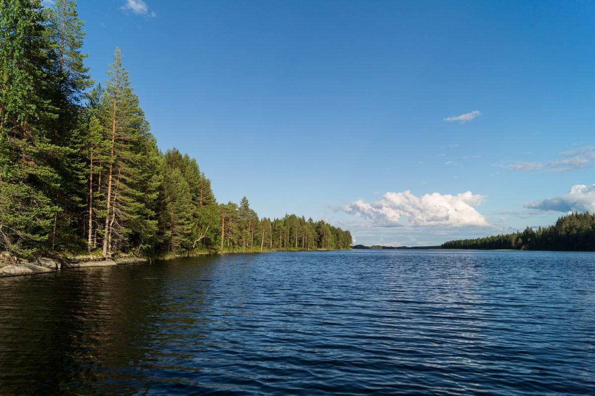 Карелия. Шуезеро. Хороший день. Синева неба и воды.