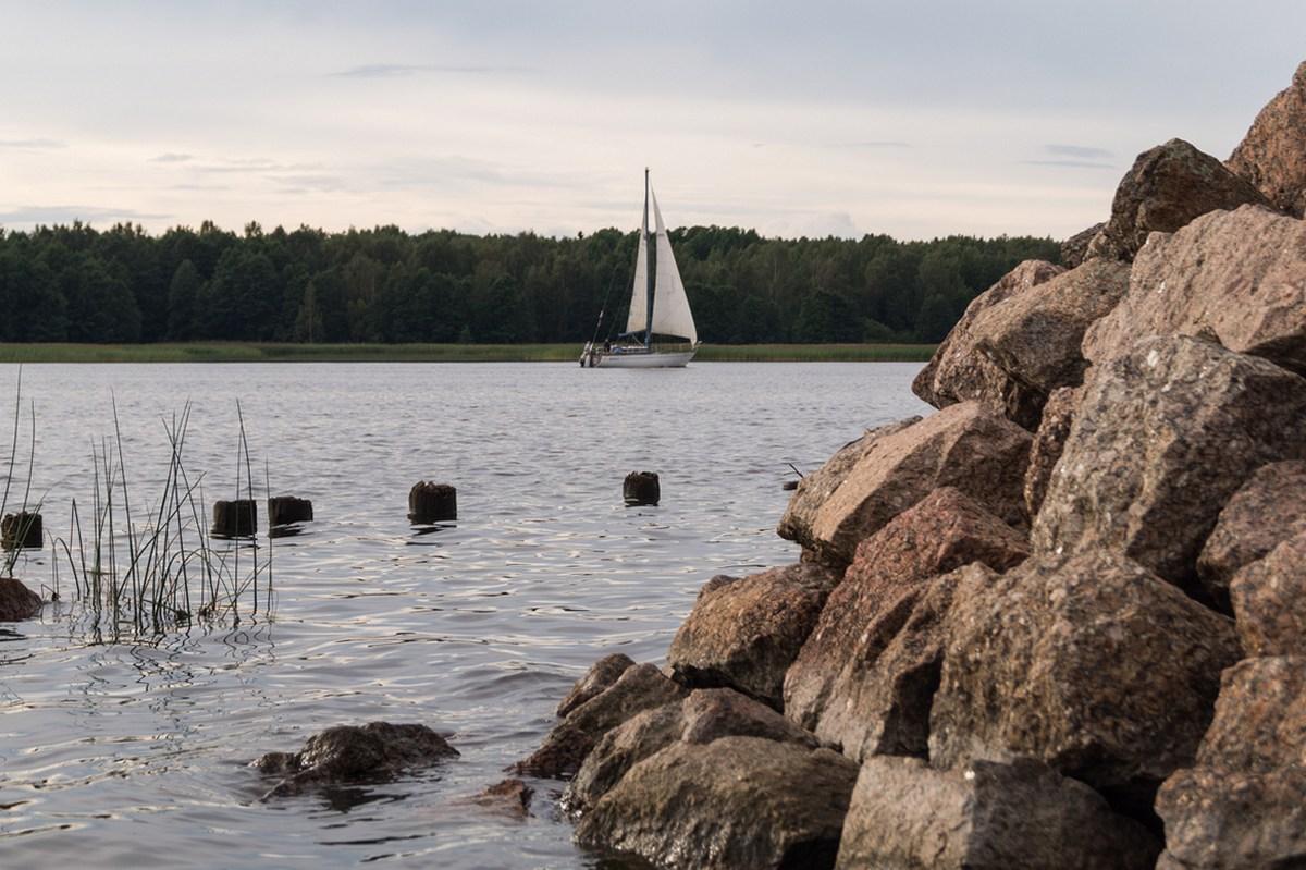 На Финском заливе. В Глебычево.